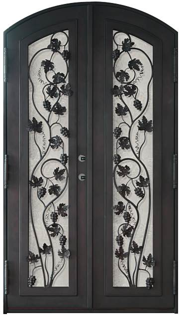 Steel Door Designs metal security door design Grapes 12 Arch Double Grapes Design Steel Doors