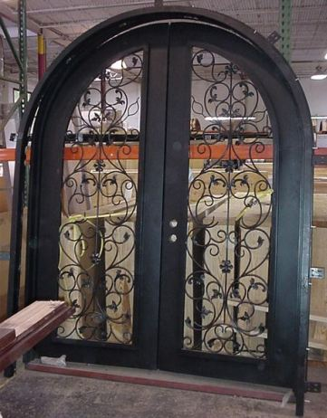 Custom Radius Iron Entry Door & Custom Iron Entry Doors - Radius Wrought Iron Door