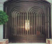 Solid Iron Radius Double Doors