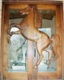 Sculptured Horse Double Doors