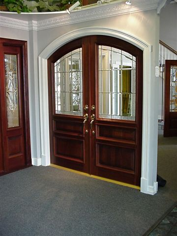Glass Double Arched Doors