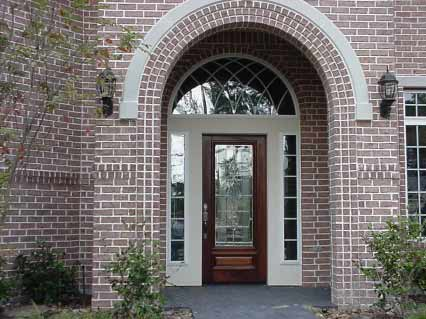 Custom Beveled Glass Entry