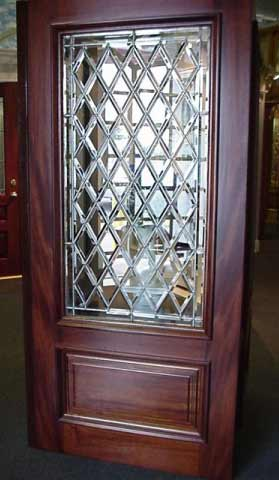 Diamond Design Glass Entry Doors