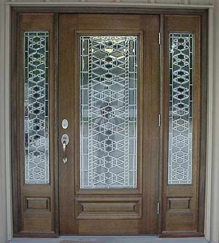 Beveled glass entry doors for Custom entry doors