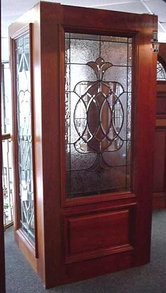 Decorative Beveled Glass Entry Doors