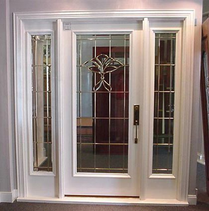 Custom Entry Doors on Designer Glass Entry Door With Matching Sidelights Cg125 Custom Built