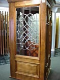 Old World Beveled Glass Doors