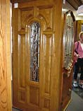 Single Arch Beveled Glass Entry Doors