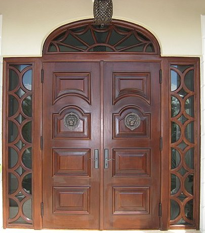 Custom Door Design on Custom Square Circle Design Entry Wood Doors Rp13 675 Custom Built To