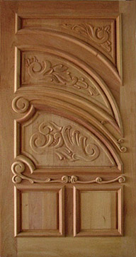 Handcrafted Carved Single Solid Wood Doors