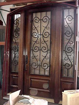 Entry Doors  Sidelights on Arched Wrought Iron Entry Doors And Sidelights W2272 Built To Client S