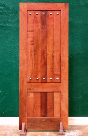 Rustic Panel Doors With Decorative Clavos