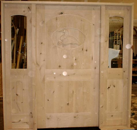 Sculptured Wood Doors Hand Carved Duck Door