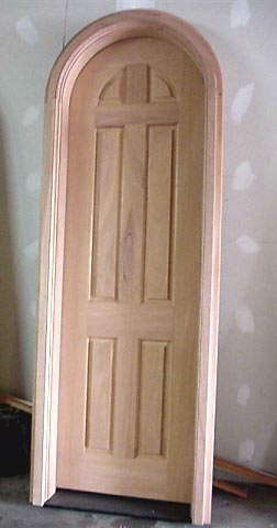 Curved top door