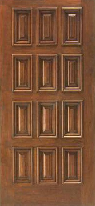 wood 12 panel honduras mahogany entry doors
