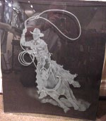 Glass Etching - Roper Western Scene in glass