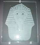 Etched Glass Artwork - King Tut Glass Design