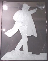 Etched Glass Artwork - Wyatt Earp