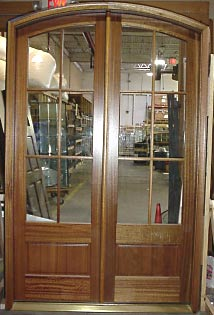 French doors double arched entry doors for Small double front doors