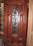 Cherry Single Glass Arch Door