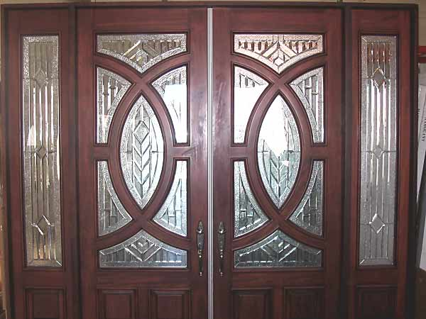 Double Entry Doors with Glass 600 x 450
