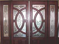 Circle Glass Double Entry Doors