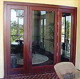 Clear Glass French Doors and Fixed Sidelites
