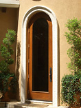 ZF-1002 Single Round Glass Modena doors