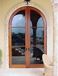 Round Top Clear Glass Doors