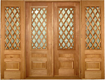 Marlasa Lattice Glass Double Entry Doors