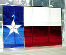 Texas State Flag Custom Stained Glass Design
