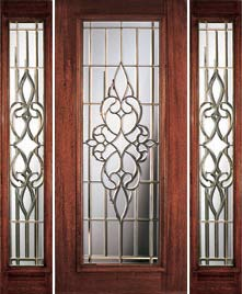 Beveled Glass Door with Sidelights & Full Light Beveled Glass Doors - Portobello Courtlandt Full Glass Doors