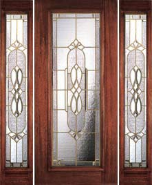 Beveled Glass Door with Sidelights & Full Light Beveled Glass Doors - Portobello Kensington 6 Foot Door