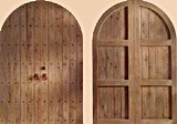 Rustic Plank Double Round Top Doors