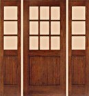 Rustic 12 Lite Half Panel Entry Doors