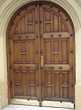 Rustic Round Top Double Doors