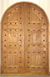 Rustic Wooden nails Decorative Double Doors