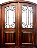 Rustic Iron Arched Double Doors