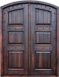 Rustic Plank Paneled Arch Doors