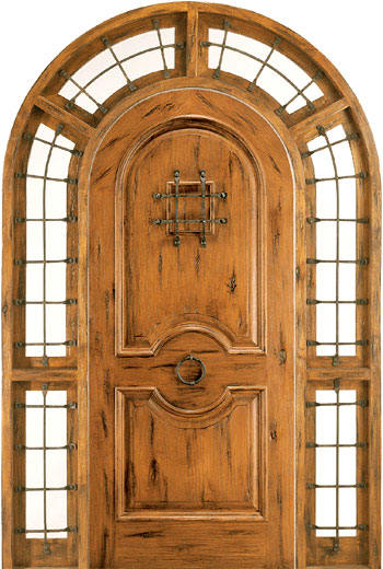 Wood Doors Sw 1100 Surround Entry Rustic Doors In Knotty Alder With Clear Glass