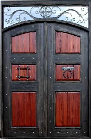 Rustic Wood Gl And Wrought Iron Doors
